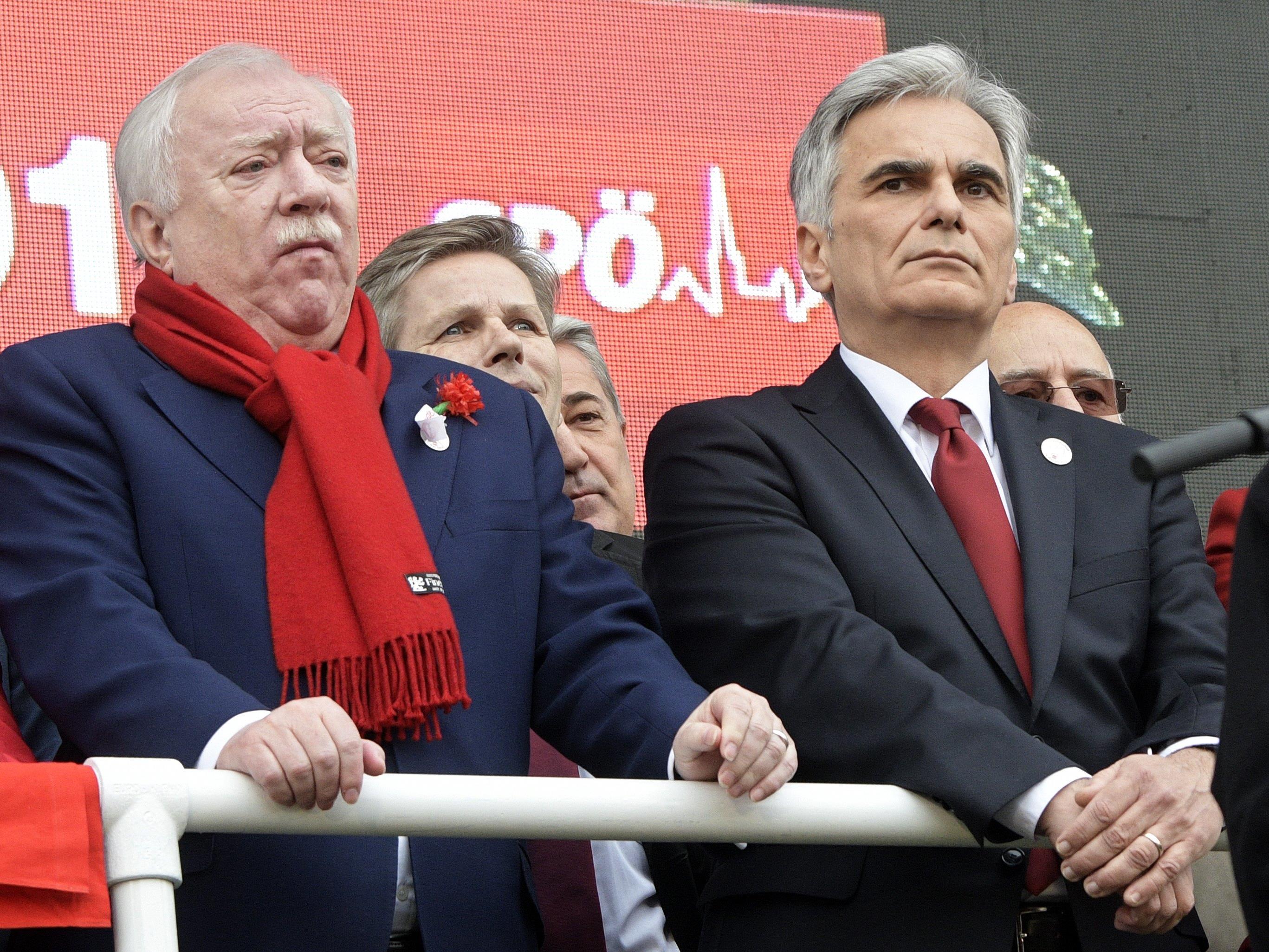 Wiener Bürgermeister Michael Häupl und Bundeskanzler Werner Faymann.