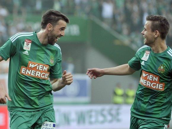 Rapid Wien zieht am meisten Zuseher an.