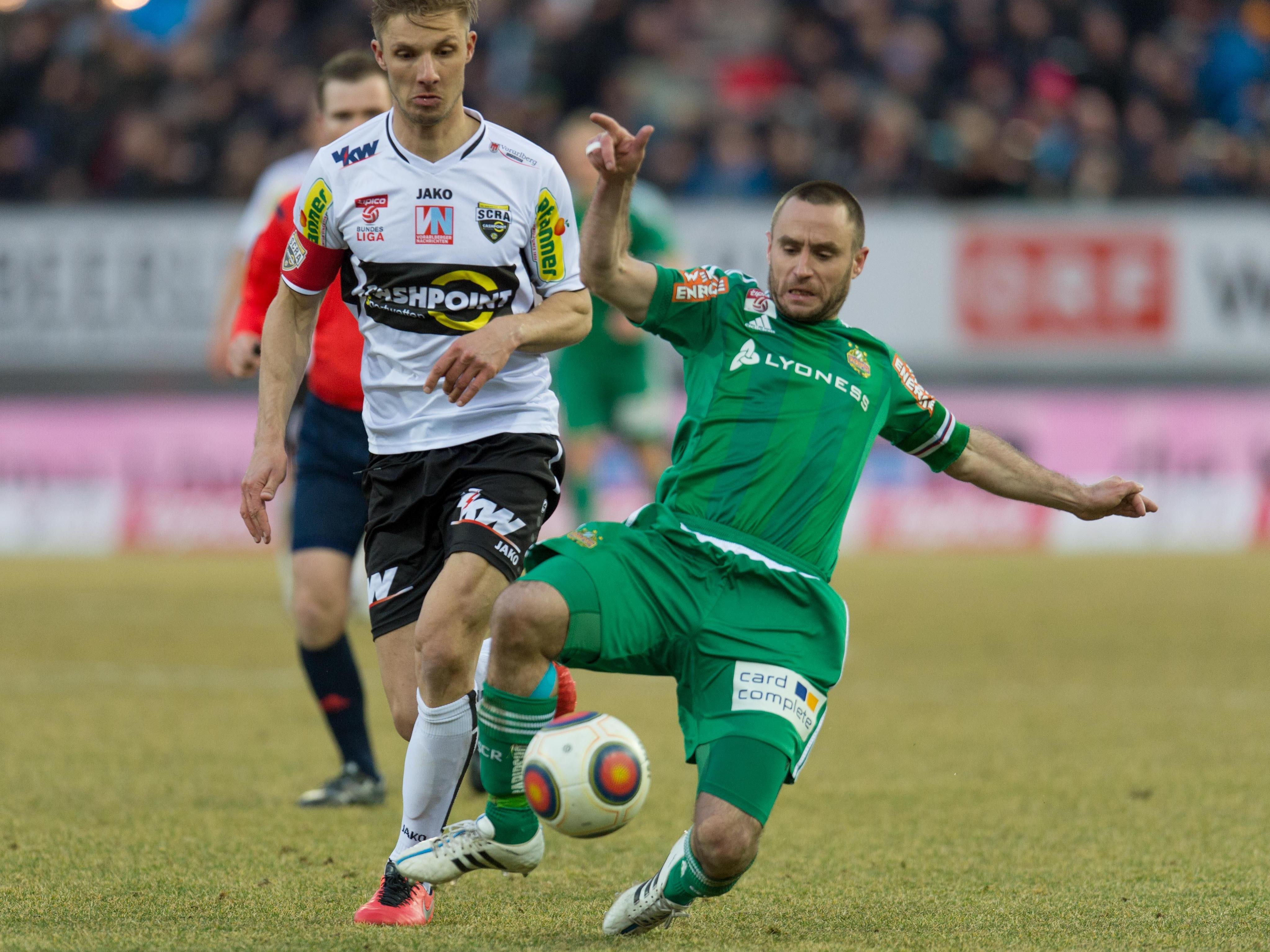 LIVE-Ticker zum Spiel SK Rapid Wien gegen SCR Altach ab 20.30 Uhr.
