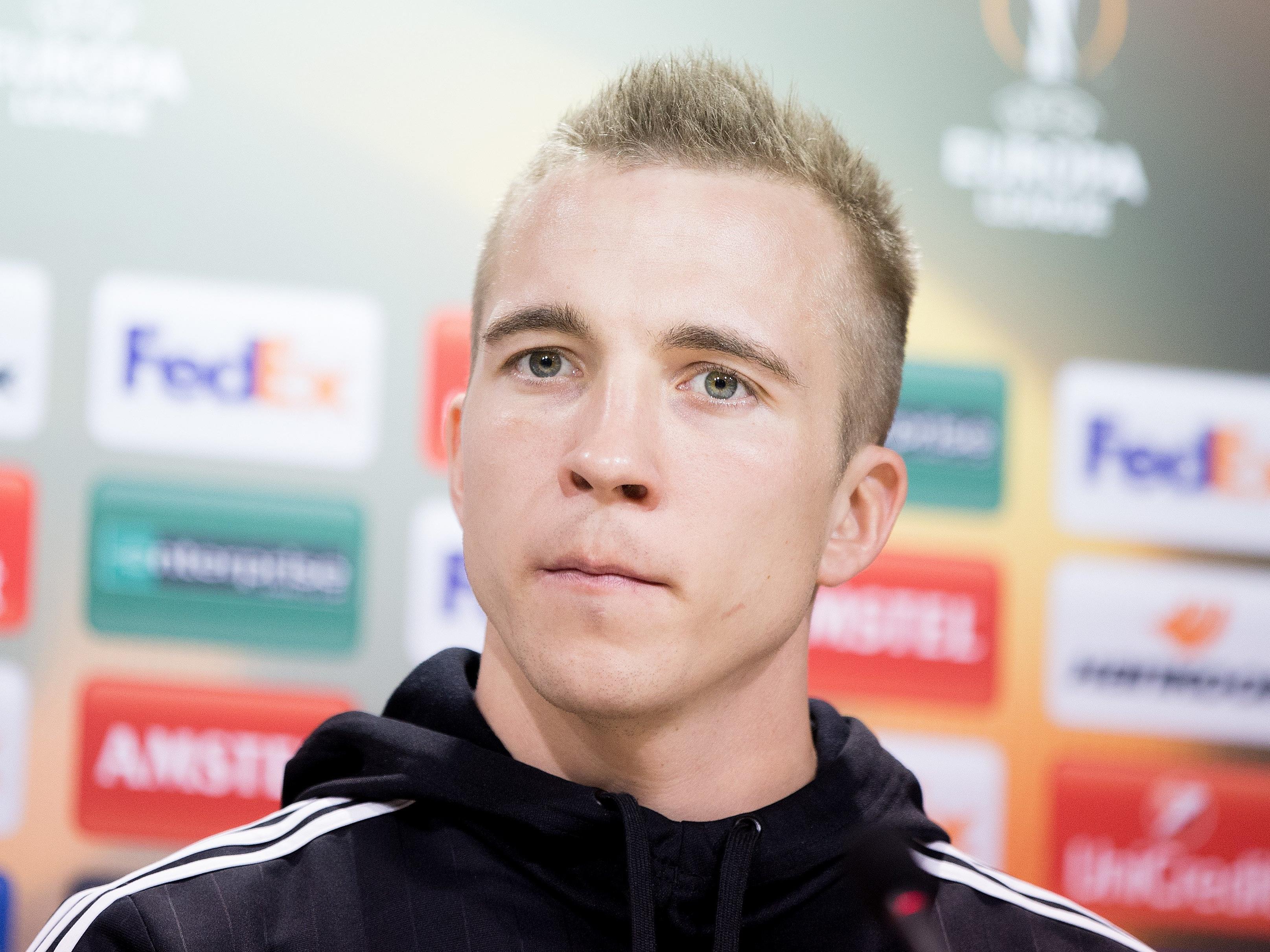 Christopher DIbon erlitt beim Spiel gegen Mattersburg einen Oberkieferhöhlen-Bruch.
