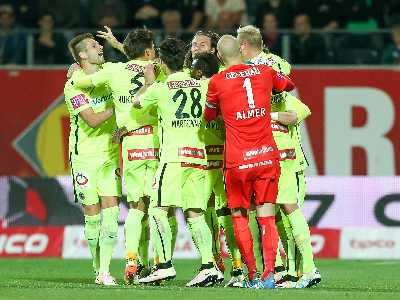 Heuer spielte die Austria auswärts in Limette.
