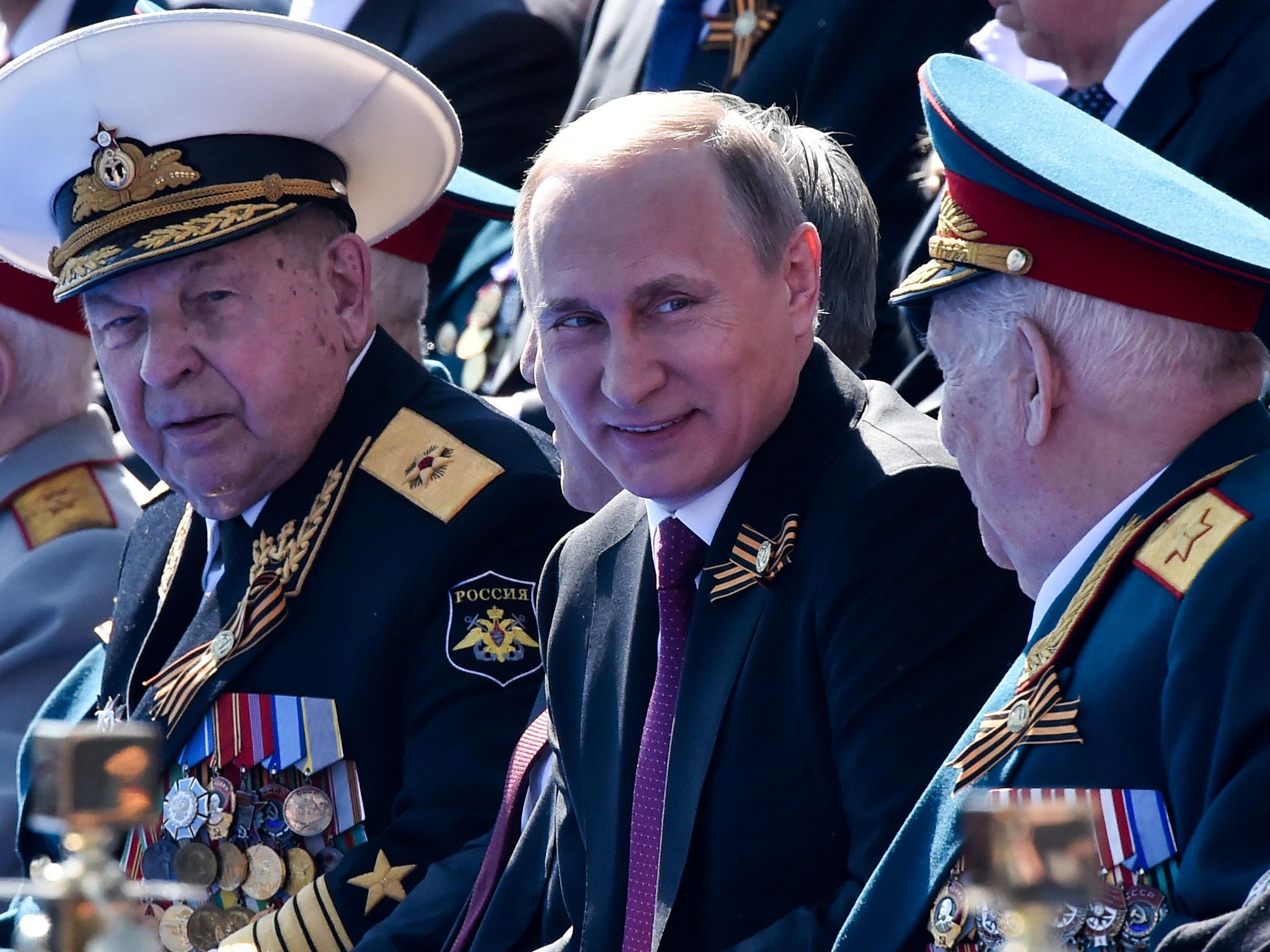 Putin bei der Militärparade in Moskau.