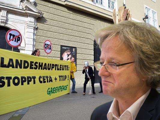 Grünen-Klubobmann Adi Gross fordert von Vizekanzler Reinhold Mitterleher die Ablehnung von CETA.