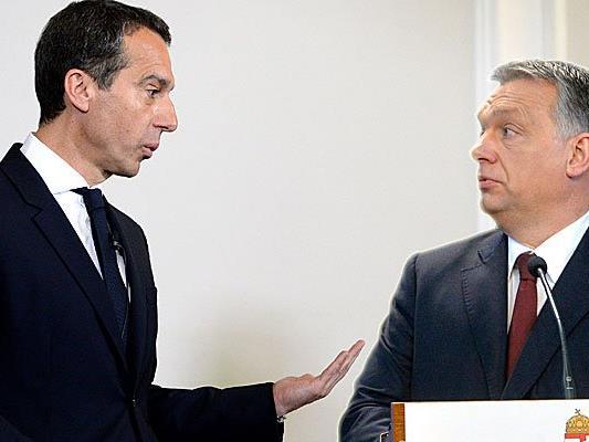 Christian Kern ist kein Freund der Politik des ungarischen Premiers Viktor Orban.