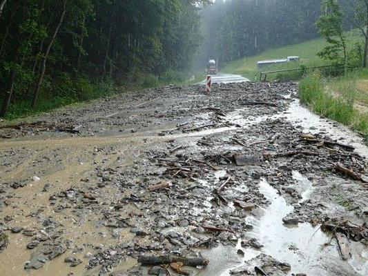 Unwetter sorgten für Überschwemmungen in NÖ