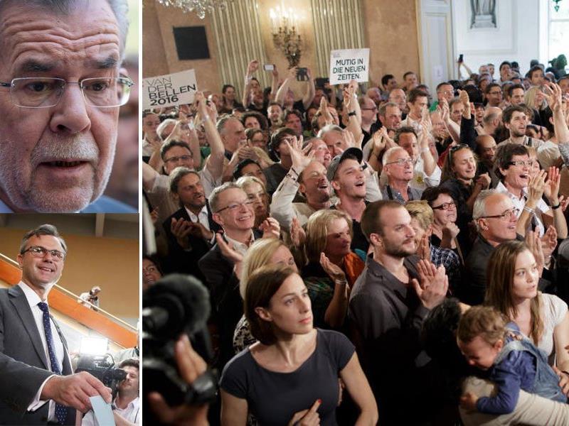 Das sind die Reaktionen nach der ersten Hochrechnung.