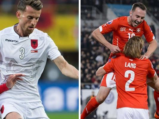 Albanien trifft in Runde eins der EM-Gruppe A auf die Schweiz.