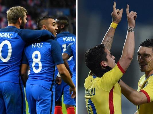 Frankreich trifft in Runde eins der EM-Gruppe A auf Rumänien.