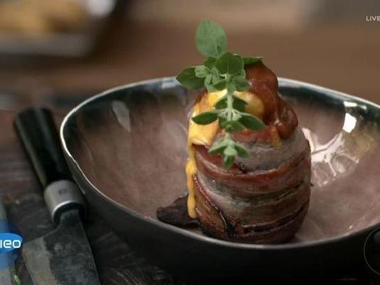 Eines der BBQ-Gerichte: Ein Bacon-Vulkan.