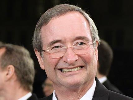 Wirtschaftskammerpräsident Christoph Leitl ist fröhlich gestimmt