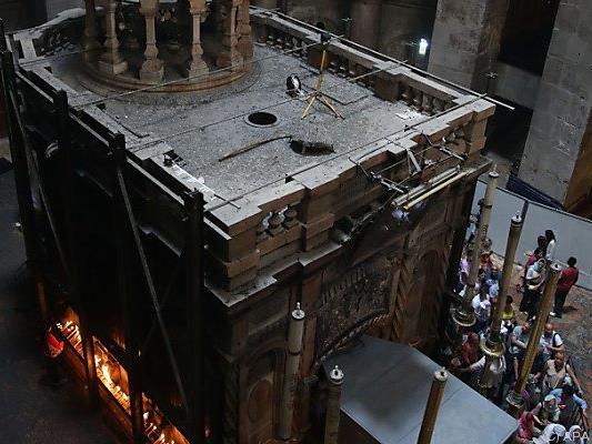 Die heilige Stätte wird nach Beilegung eines Streits nun renoviert