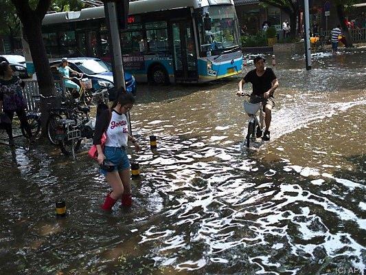 Ungewöhnlich starke Regenstürme in China