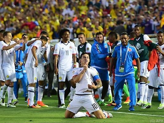 Kapitän James erzielte das 2:0 gegen Paraguay