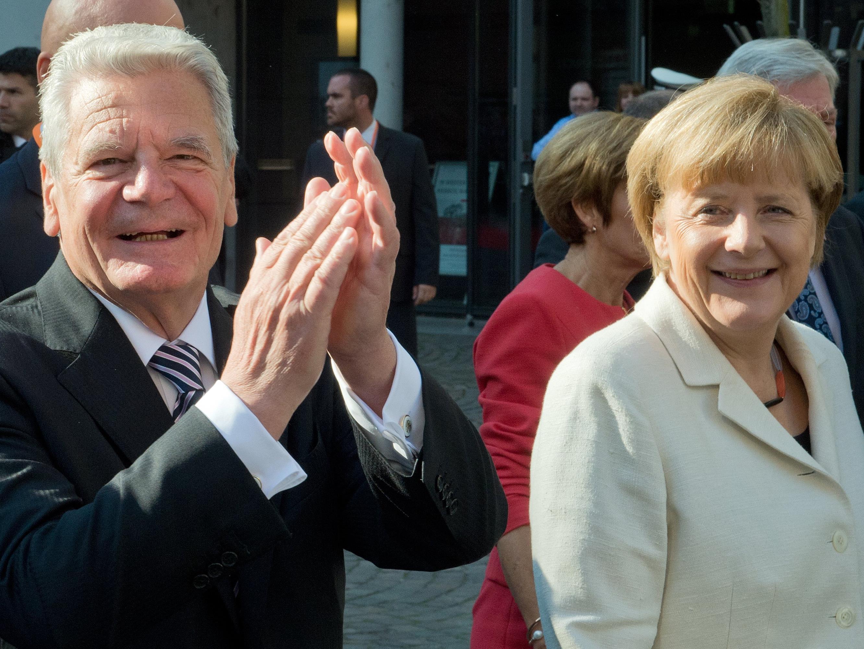 Joachim Gauck und Angela Merkel.