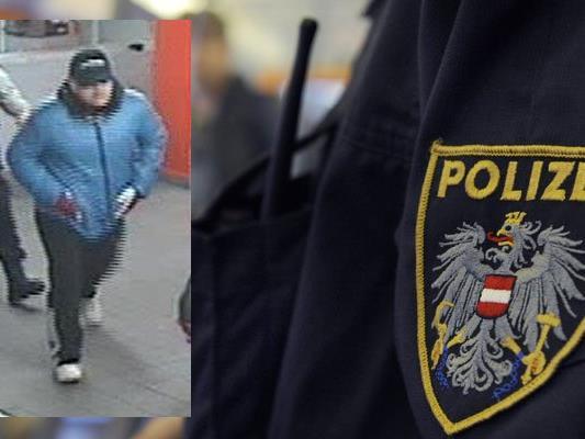 Die Polizei sucht diesen Mann, der eine Tankstelle in Leopoldstadt ausgeraubt hat.