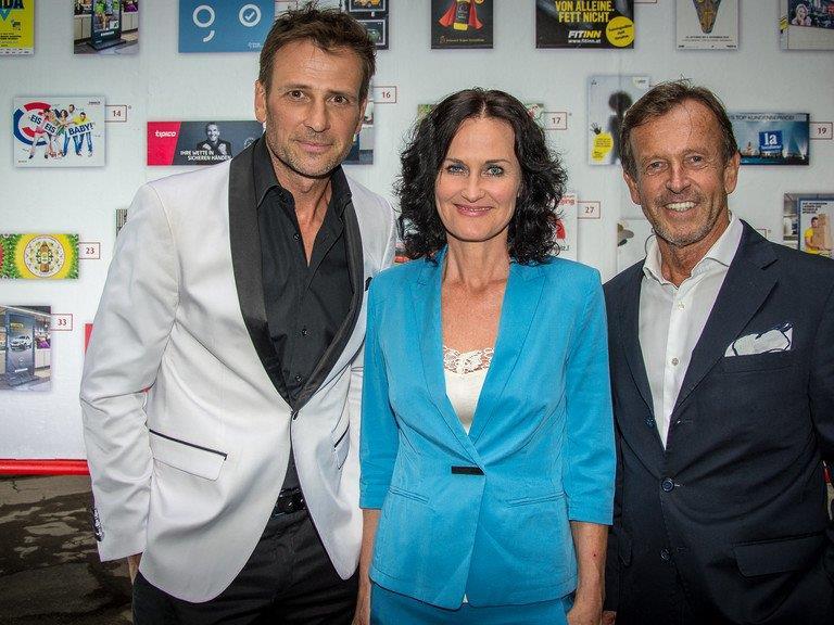 Volker Pieszek, Eva Glawischnigg und Gewista Chef Karl Javorek