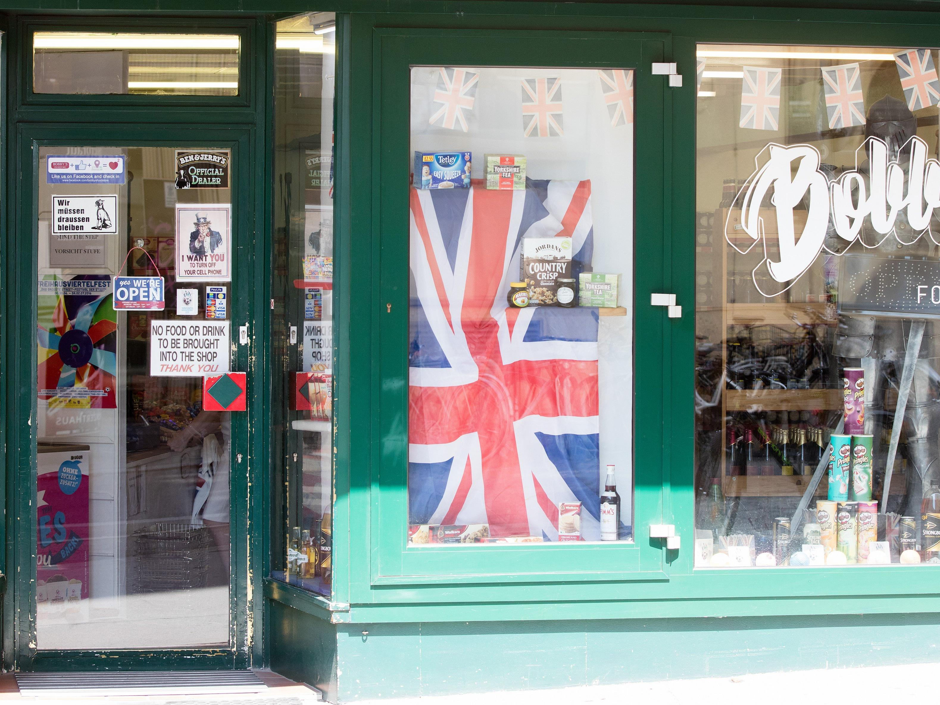 Gelassenheit im britischen Foodstore in Wien