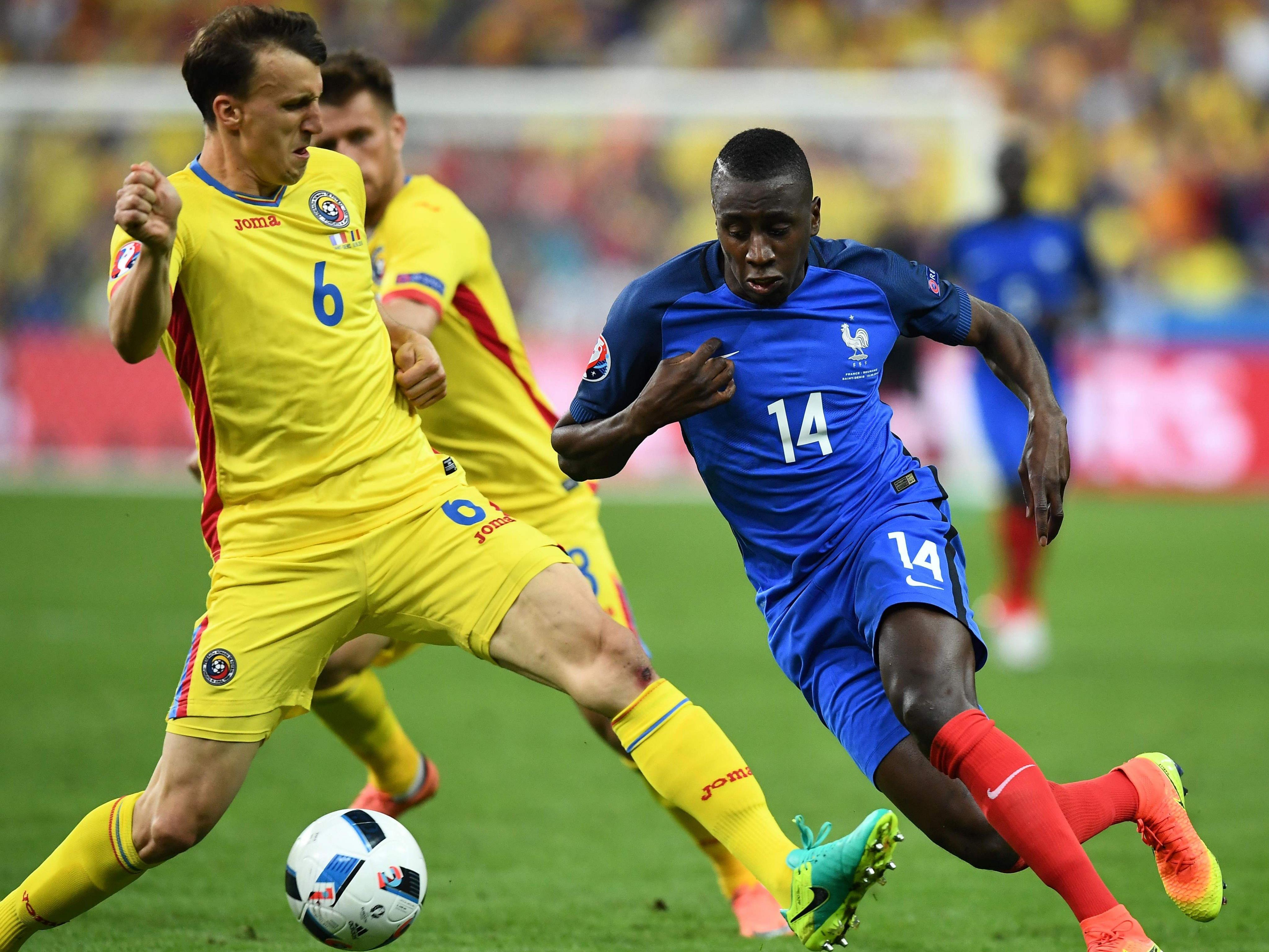 Frankreich schlug Rumänien mit 2:1.