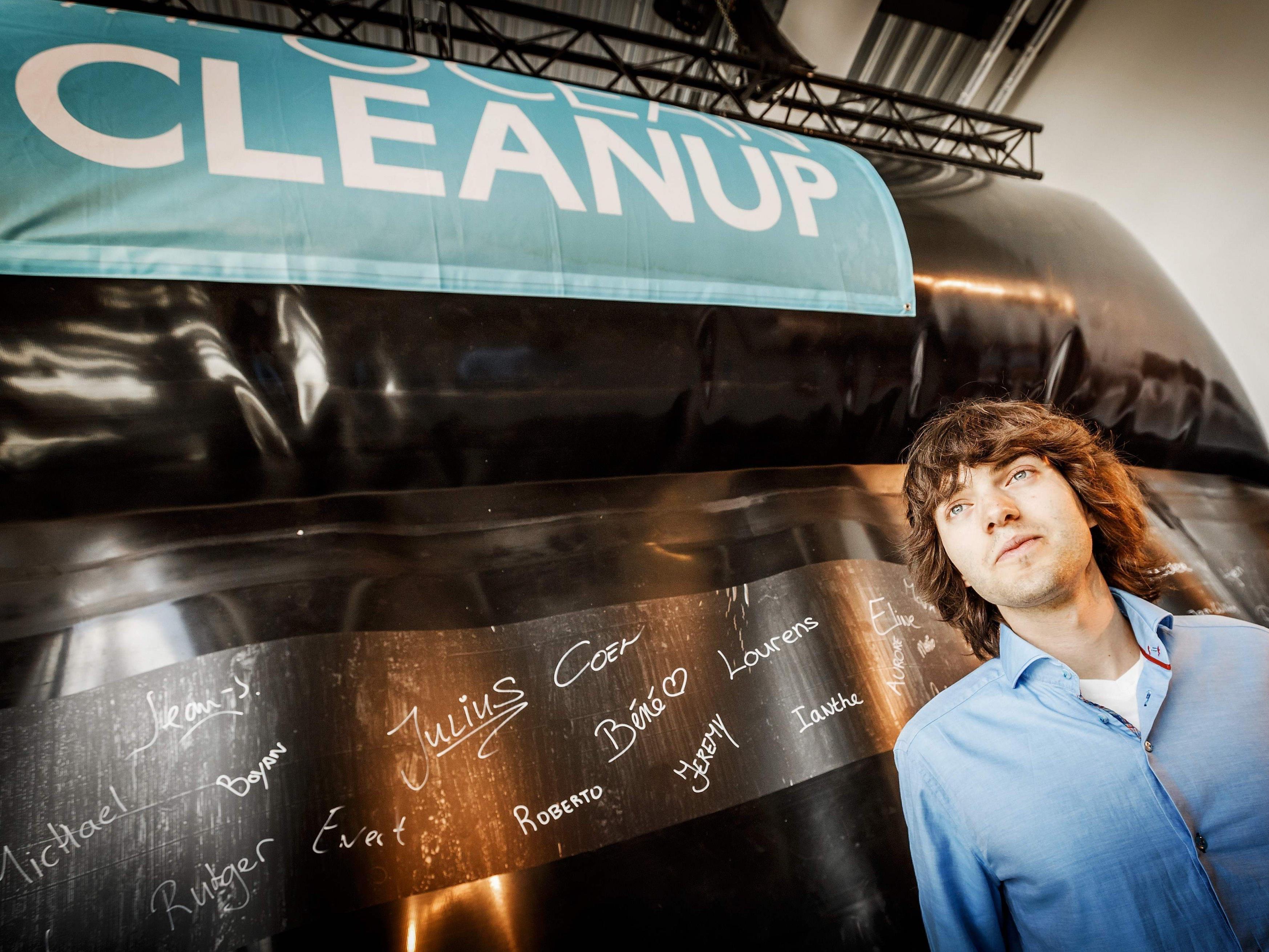 Dieser Holländer will die Weltmeere wieder säubern.