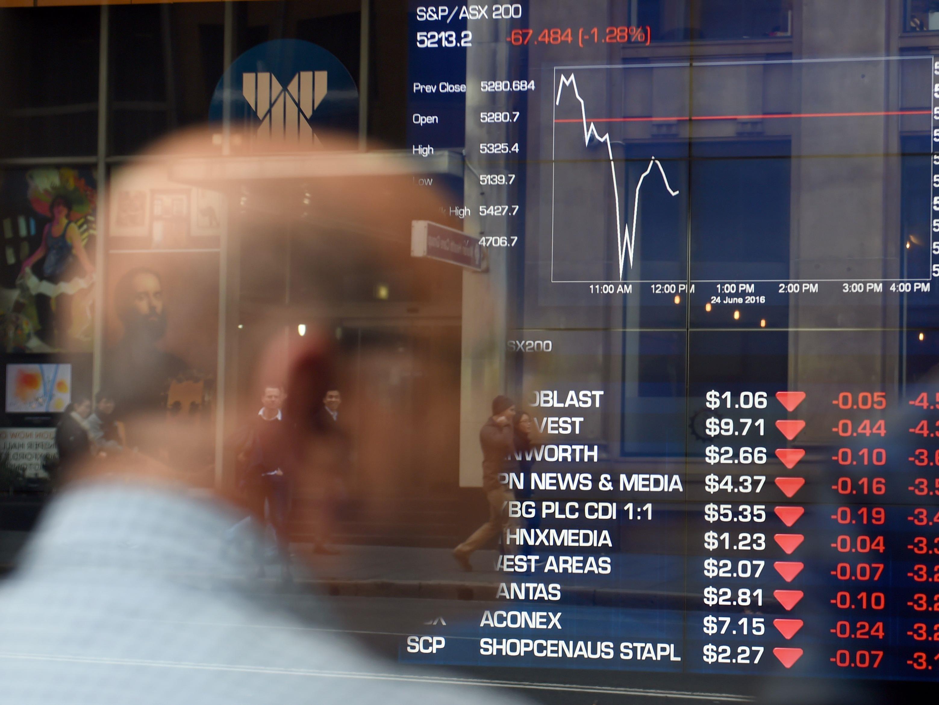 Abstürze an den Börsen weltweit sind die Folge des Brexit