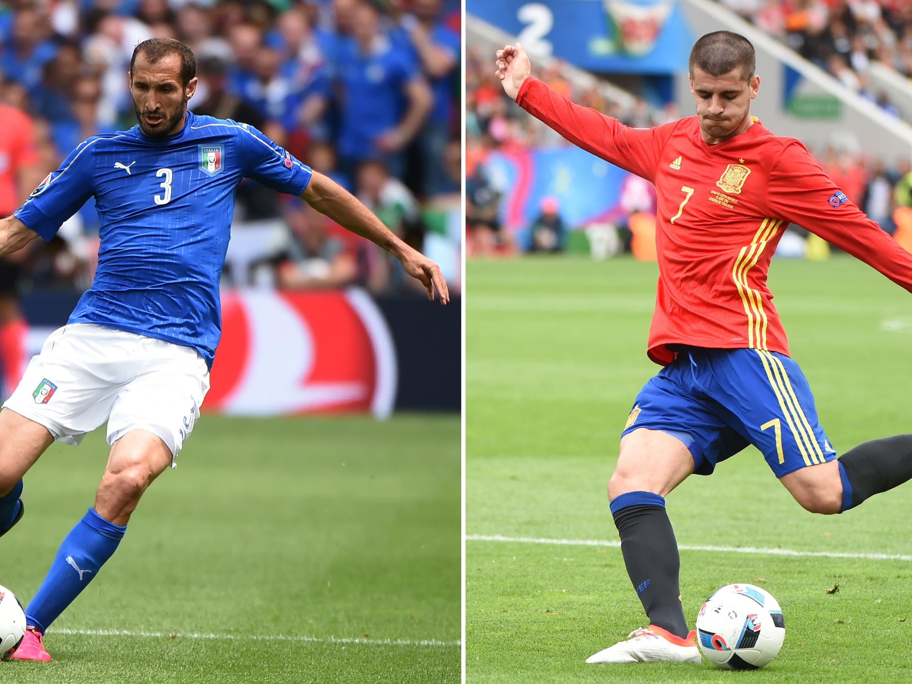 LIVE vom EM-Achtelfinale zwischen Italien und Spanien.