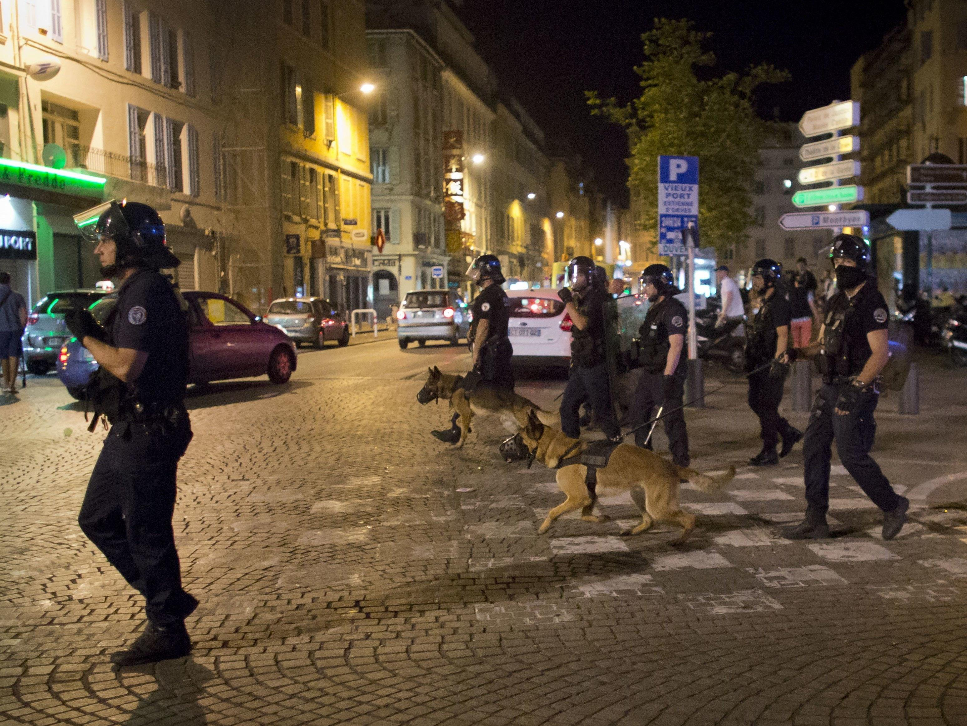 Englische Fans randalierten in Marseille.