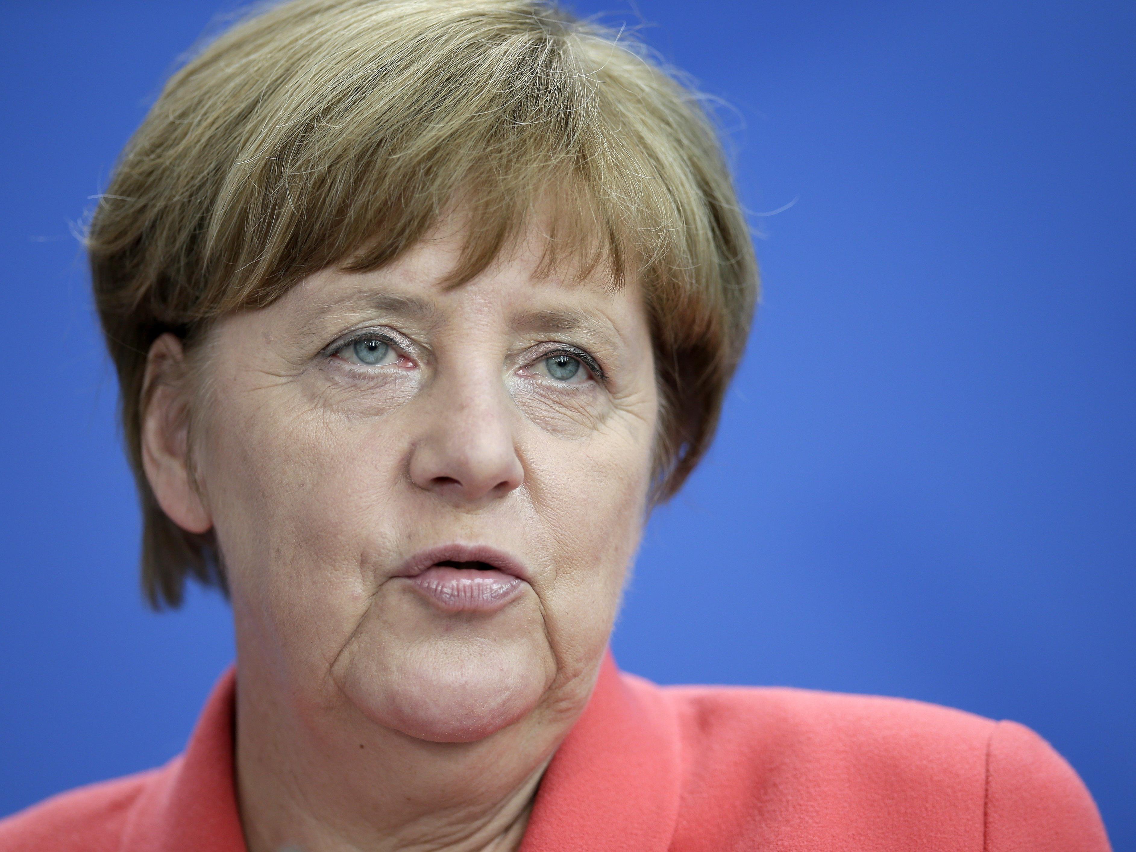 Die deutsche Bundeskanzlerin Angela Merkel ist die mächtigste Frau der Welt.