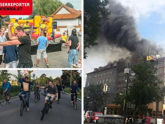 Ob Gulaschfestival, Critical Mass oder Großbrand - unsere Leserreporter waren vor Ort
