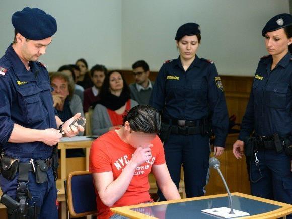 Der Angeklagte beim Prozess in Wien