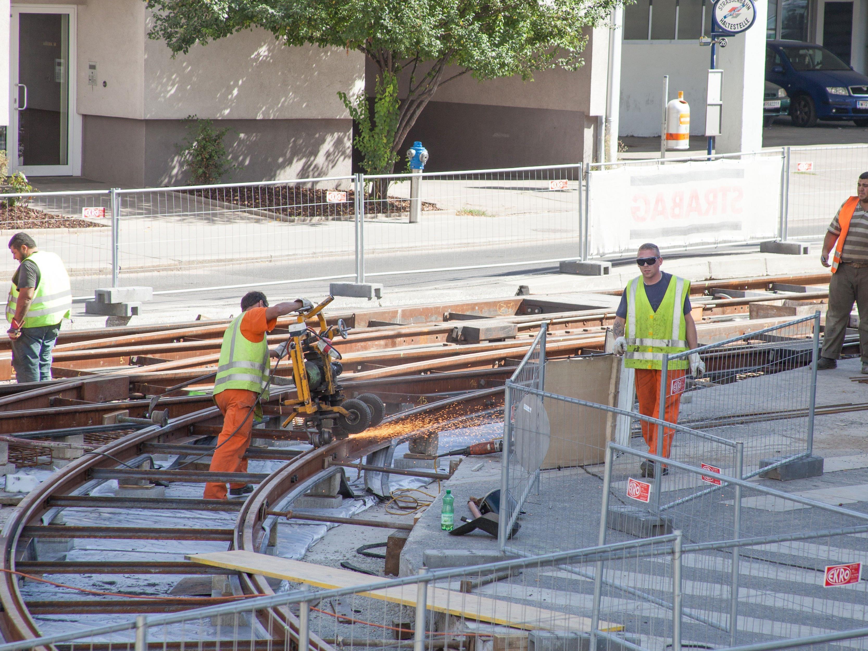 Bei den Wiener Linien stehen etliche Gleisbauarbeiten an