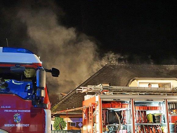 Die Feuerwehr beim Einsatz
