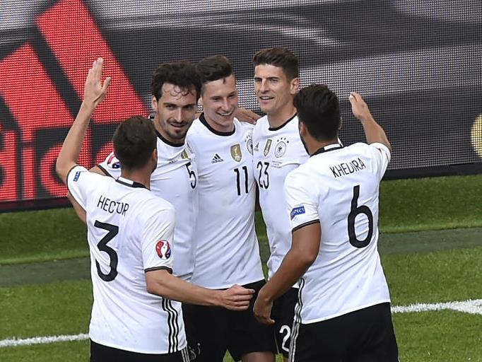 Jubel bei der deutschen Mannschaft.