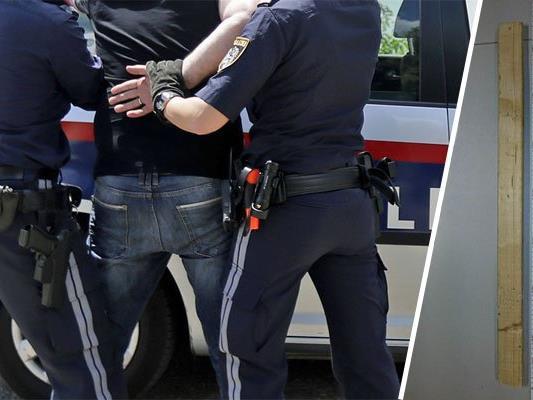 Der Jugendliche attackierte die Polizisten mit einer Holzlatte.