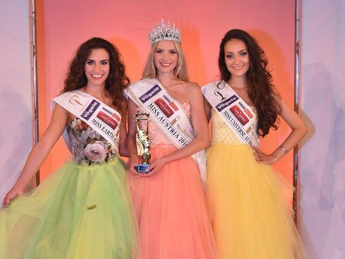 Die Top 3 der Miss Austria Wahl 2016.