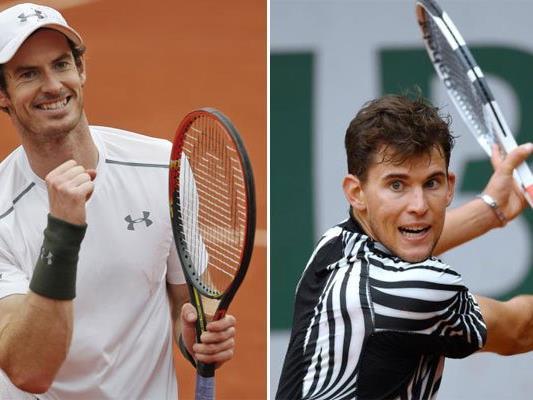 Andy Murray und Dominic Thiem sind beim Open in Wien dabei.