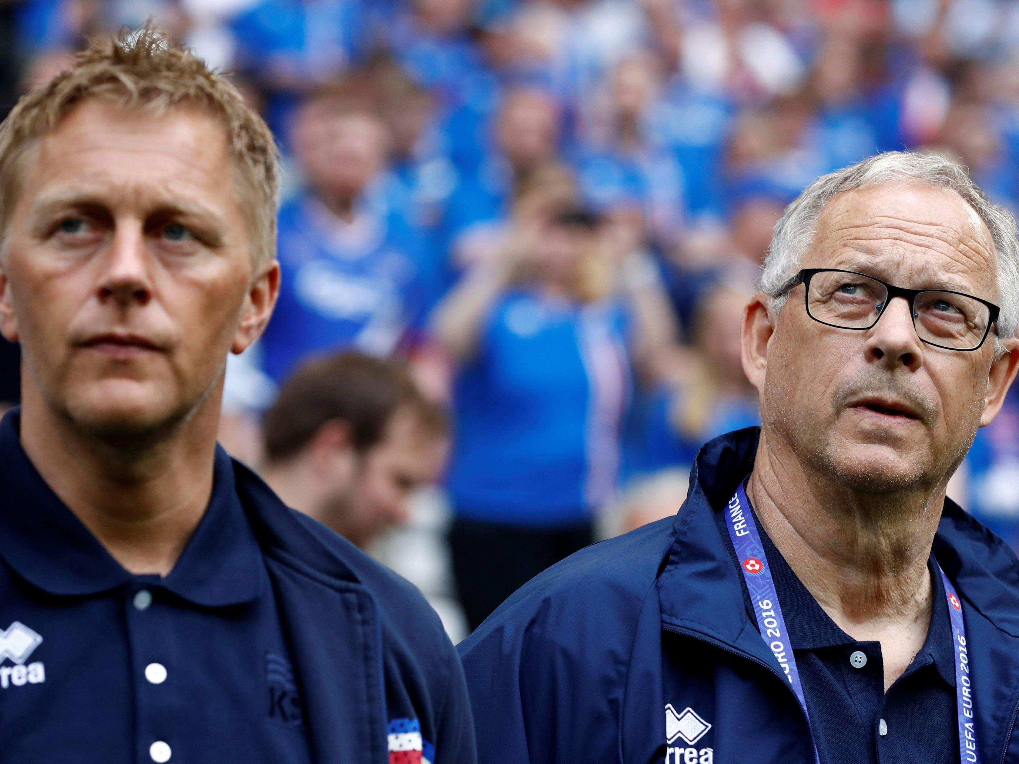 Islands Nationalteam hat gleich zwei Trainer.