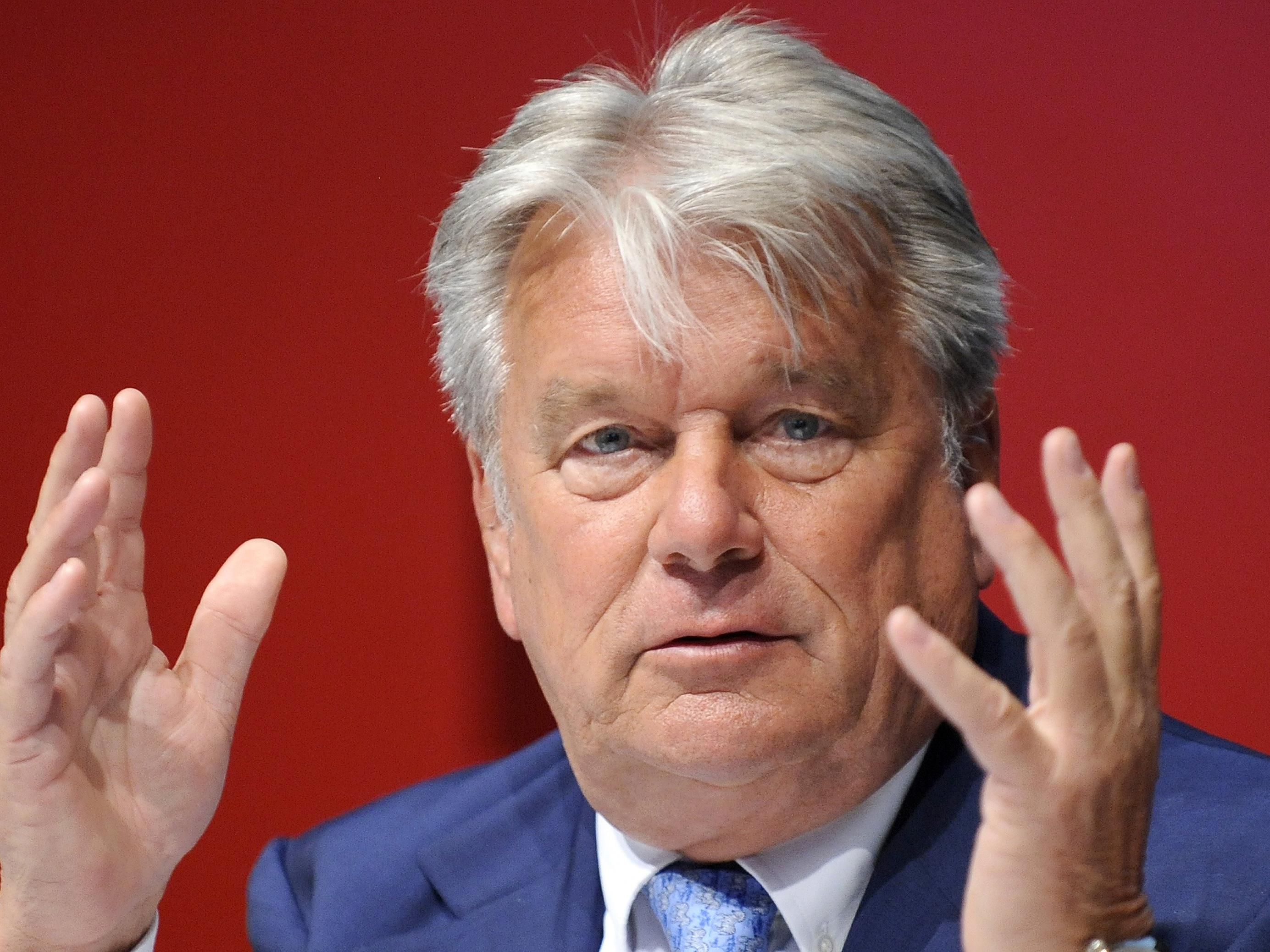 Unternehmer Hans-Peter Haselsteiner unterstützt den Wahlkampf von Alexander Van der Bellen finanziell