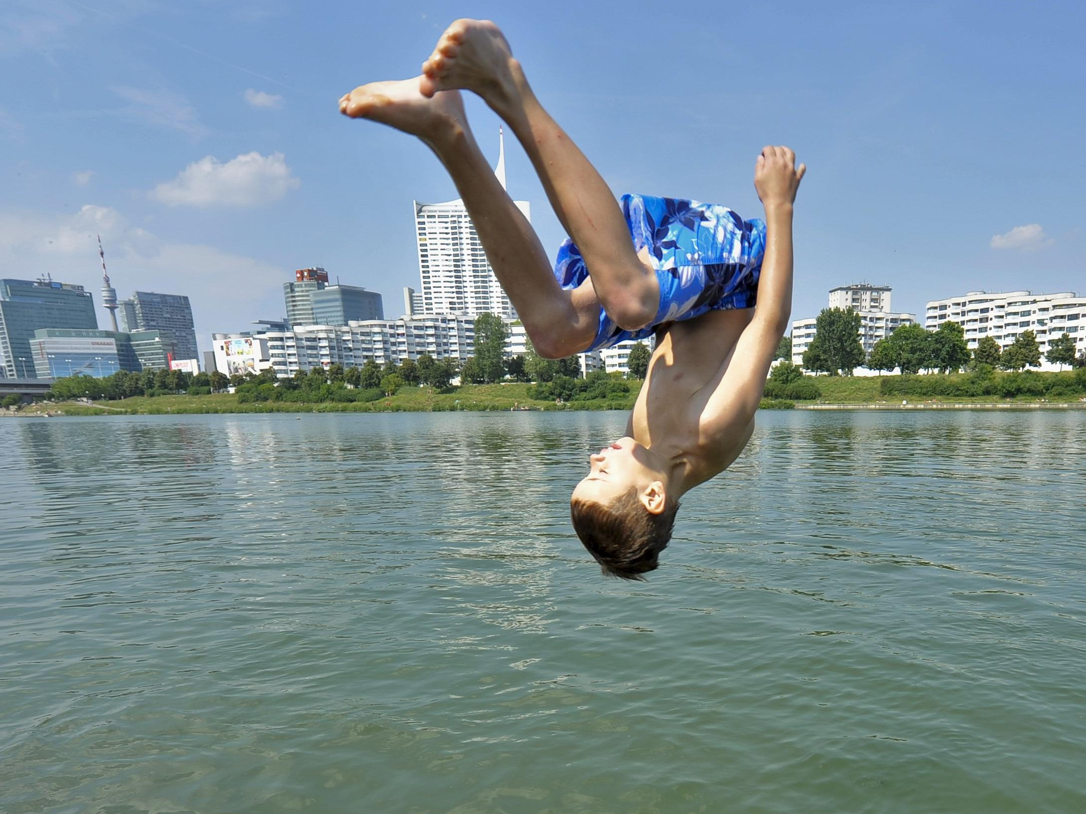 Sommer-Freizeitspaß an Wiens Gewässern.