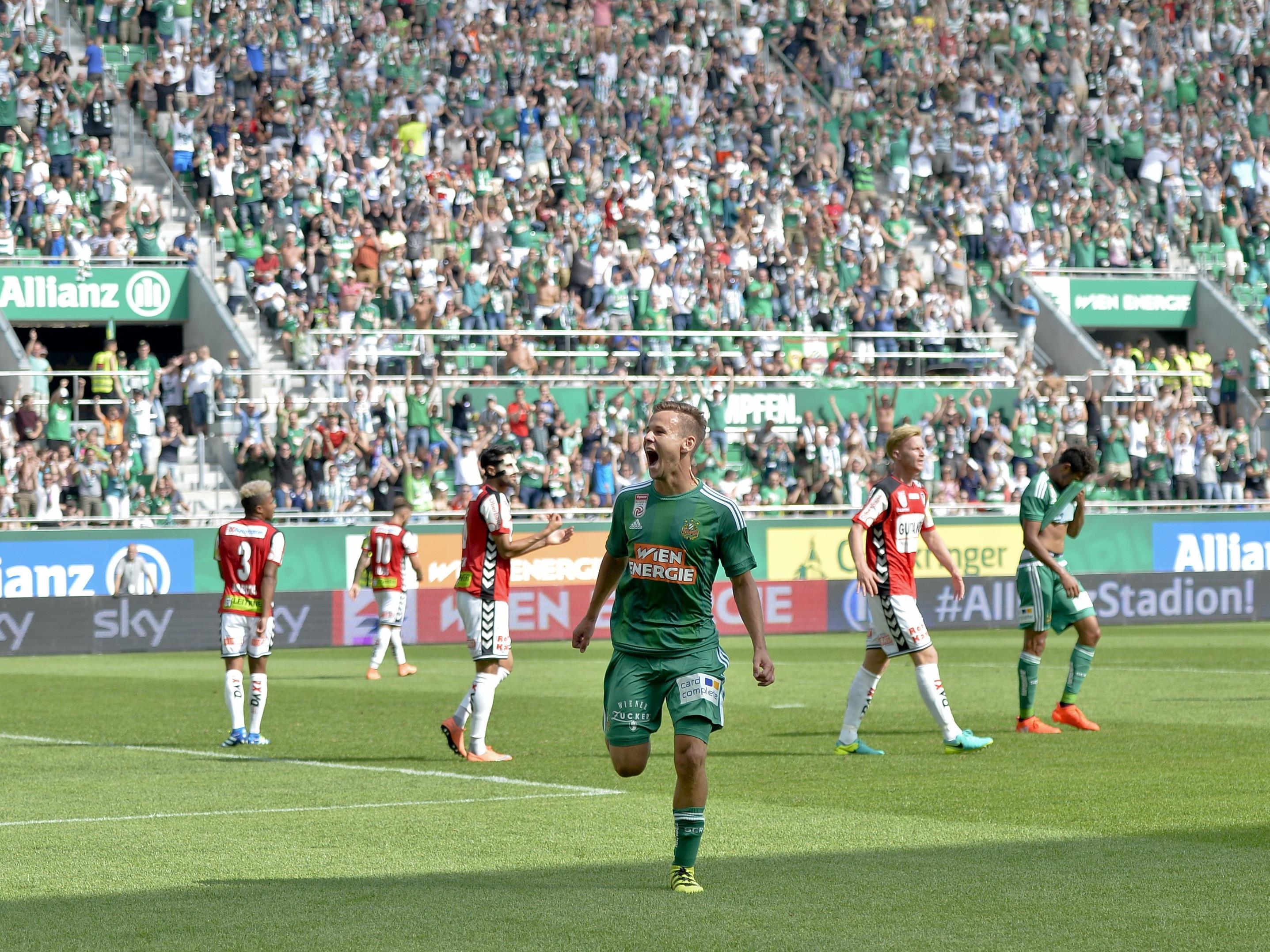 Rapid siegte mit 5:0 gegen Ried.