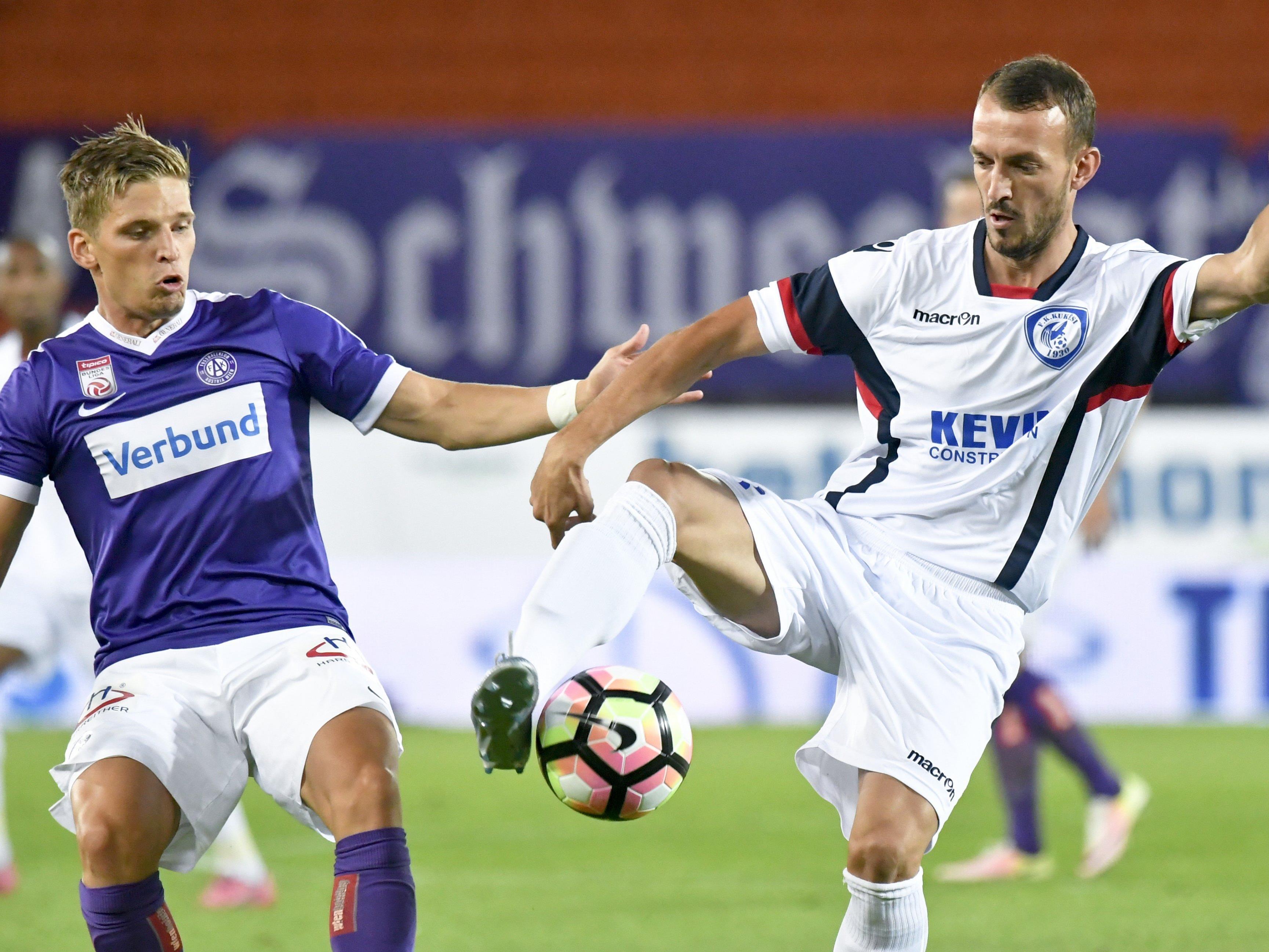 Die Austria will in Albanien den Aufstieg in die nächste EL-Qualifikationsrunde fixieren.