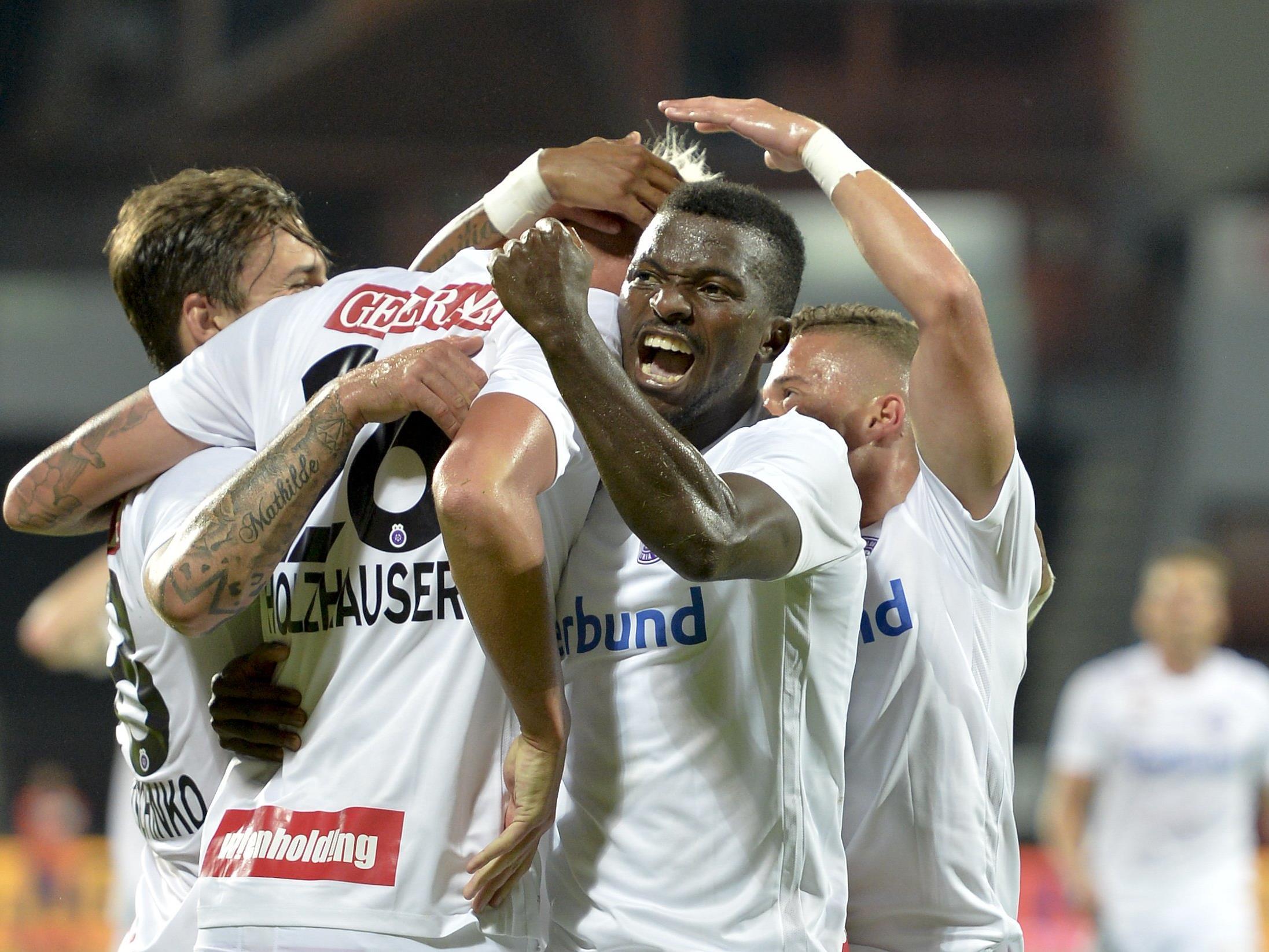 Die Austria feiert auswärts gegen den FK Kukësi einen ungefährdeten 4:1-Sieg.