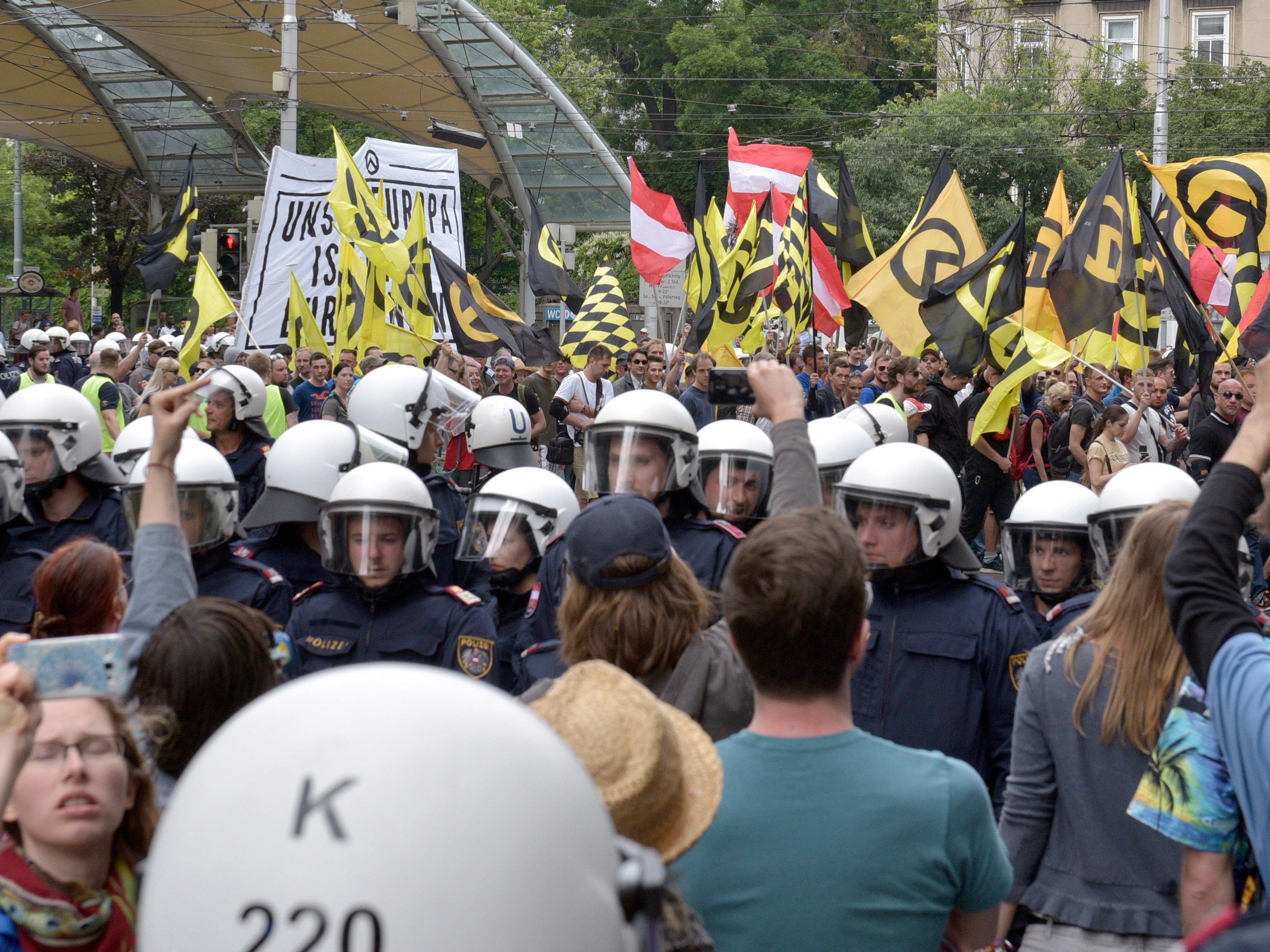 Die Identitären rufen zur Demo in Wien auf.