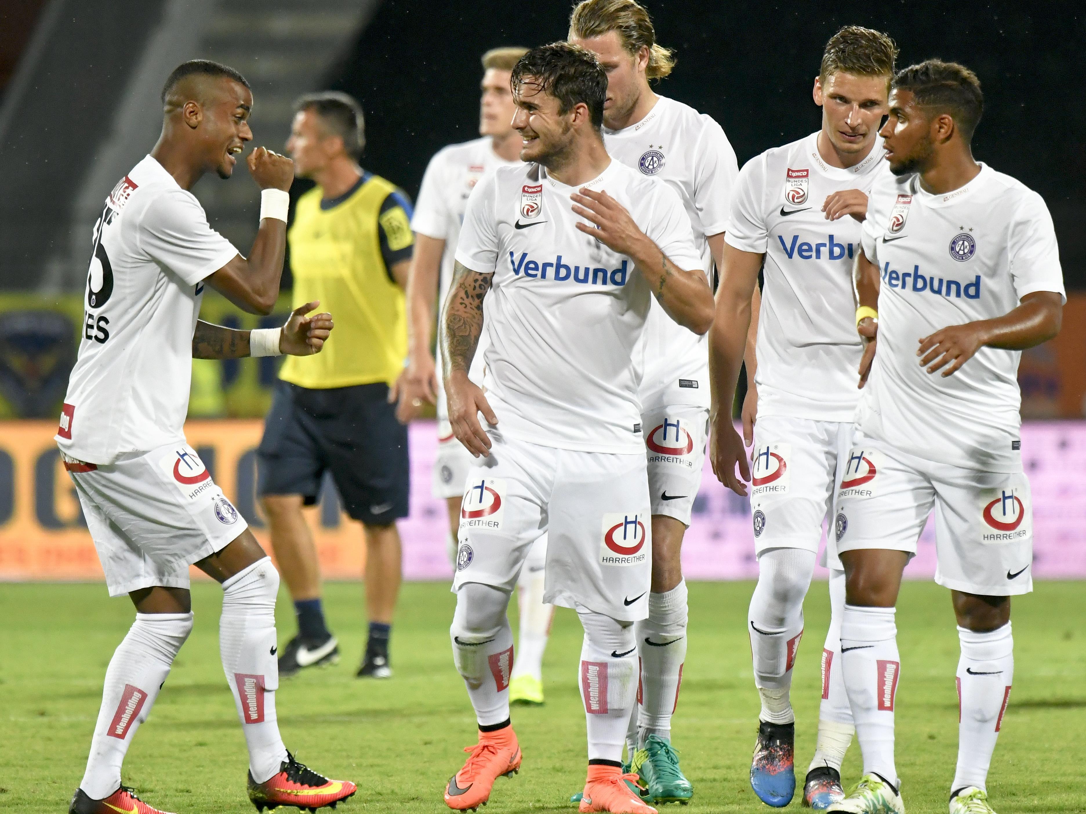 Die Wiener Austria spielt in der dritten EL-Qualirunde gegen Spartak Trnava zuerst zu Hause.
