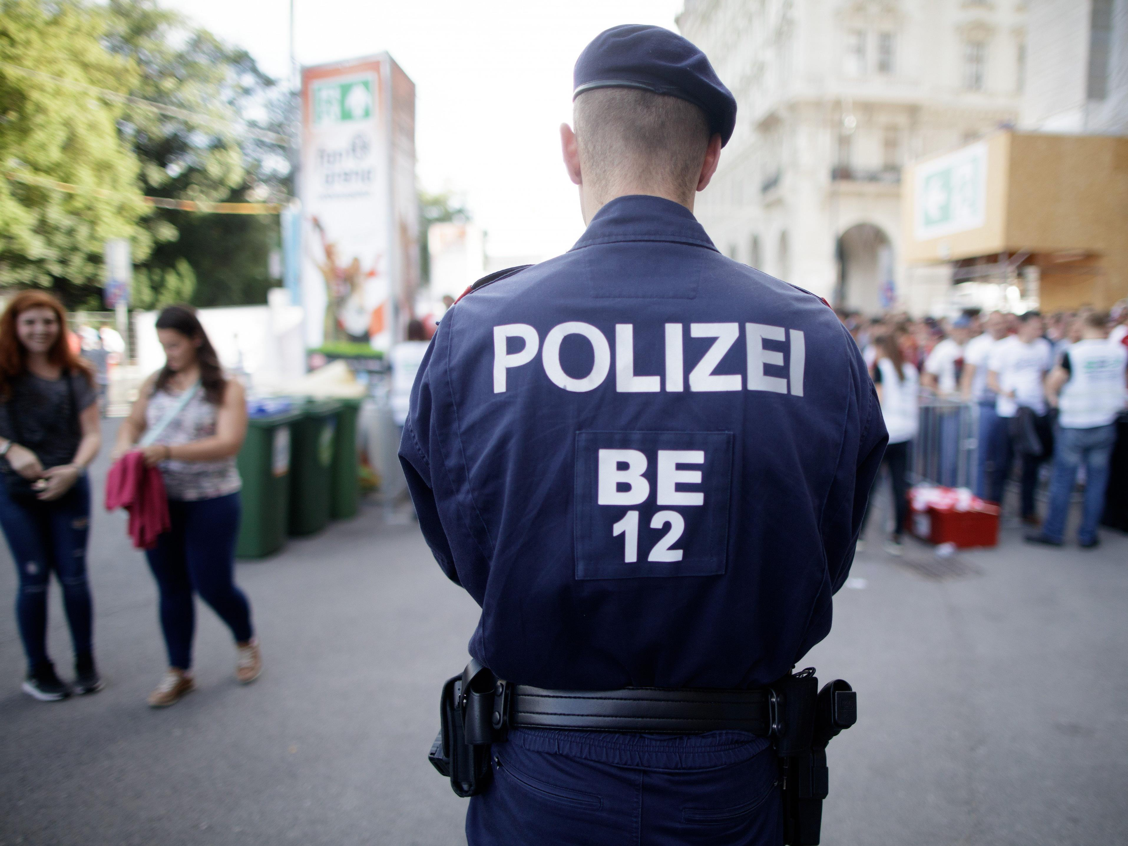 Die Polizei begleitete die Kundgebung.