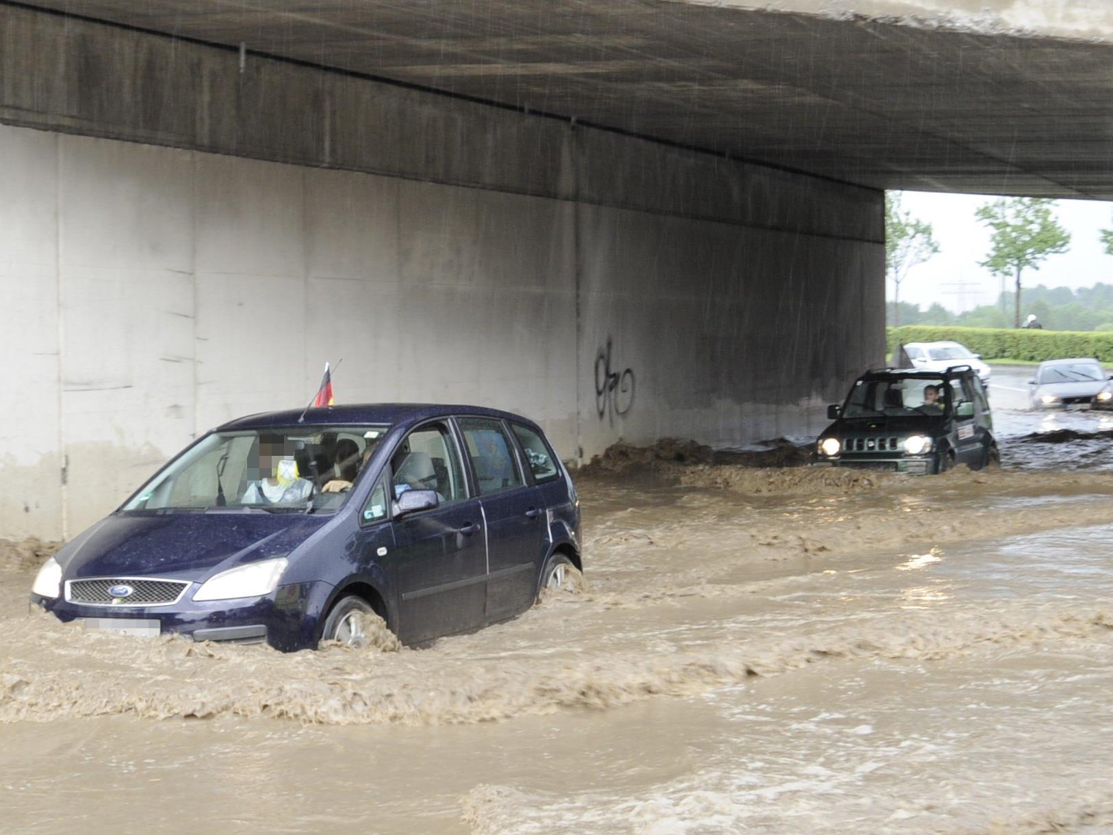 Die Unwetter über Österreich richteten Schäden in Millionenhöhe an