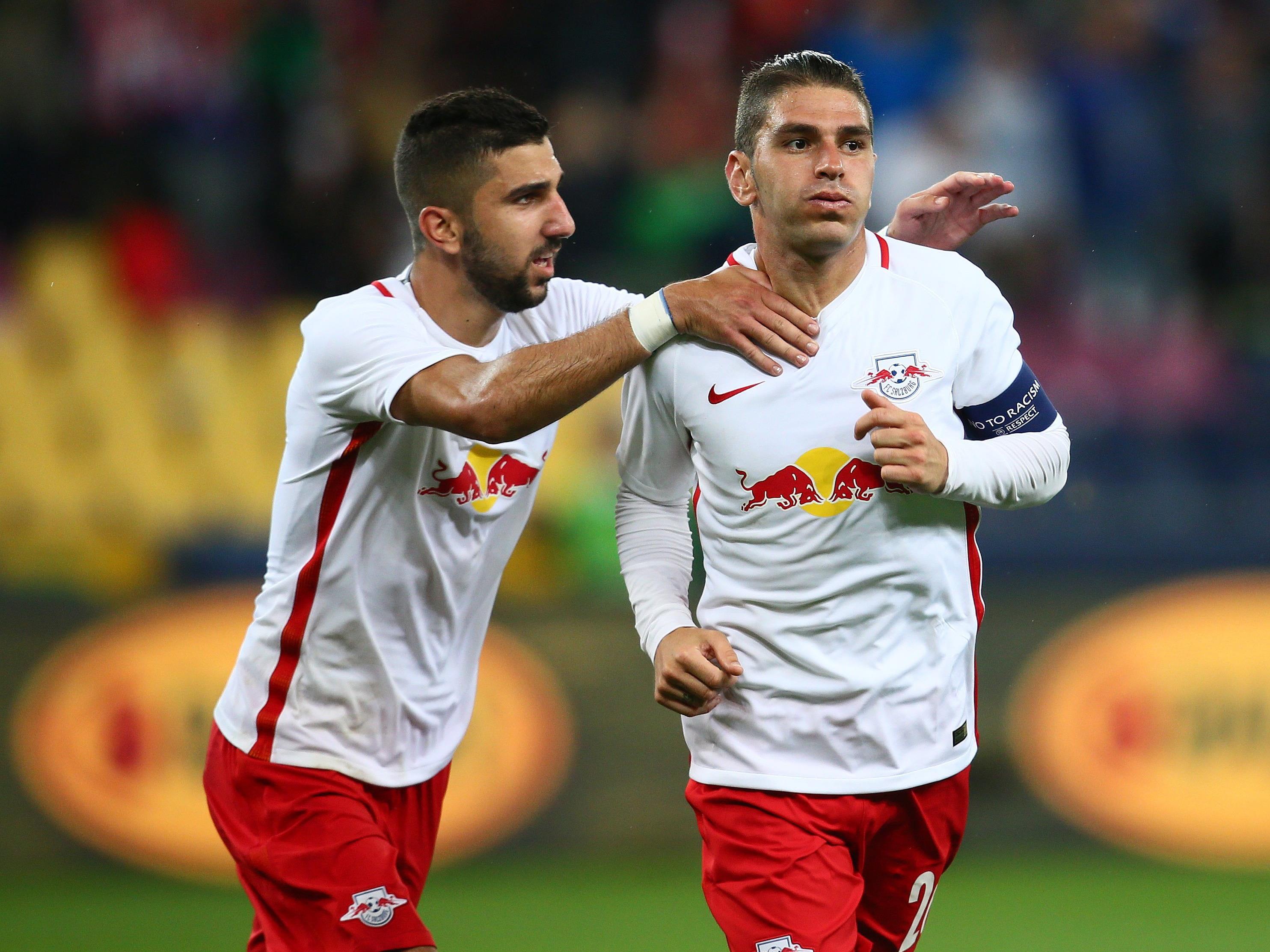 Im Hinspiel rettete Soriano (re.) Red Bull Salzburg mit seinem Tor.