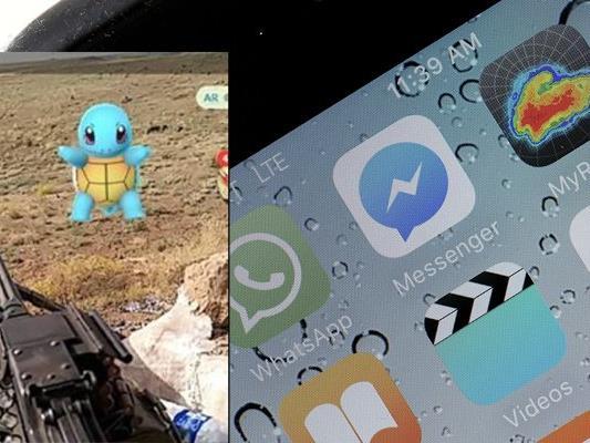 Pokémon Go funktioniert offensichtlich auch im Kriegsgebiet.