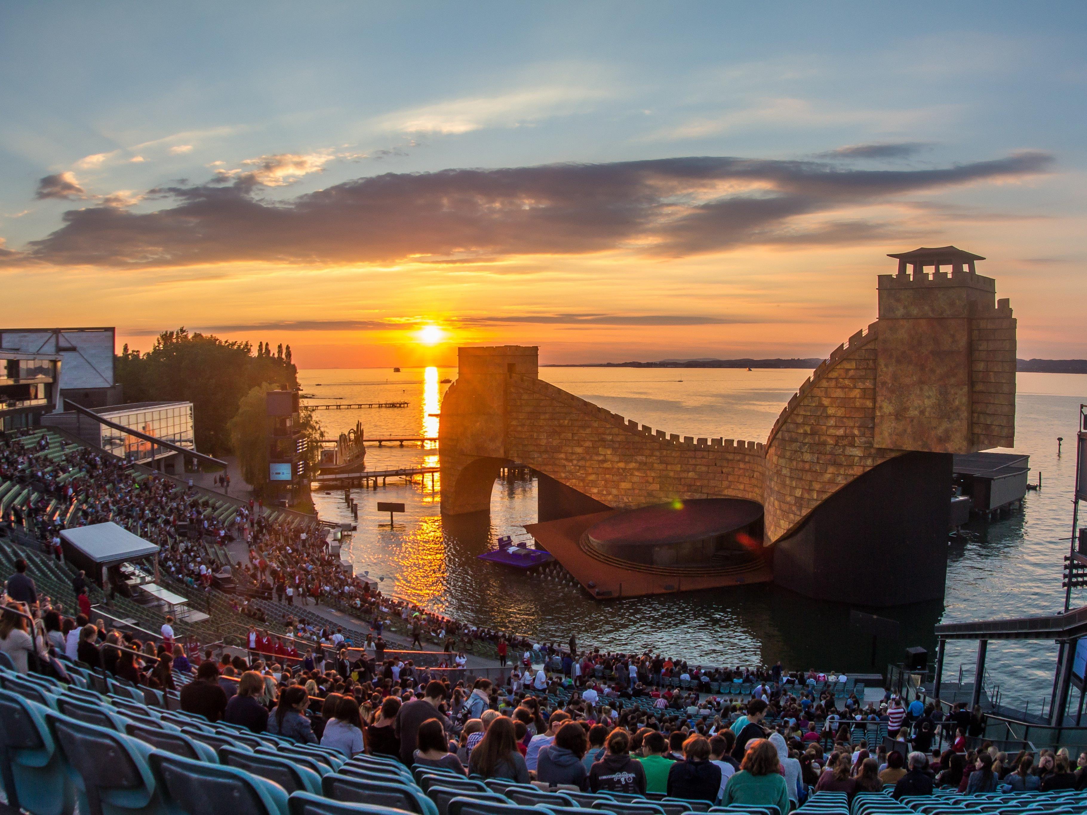 """Fotoprobe für """"Turandot"""" auf der Seebühne Bregenz."""