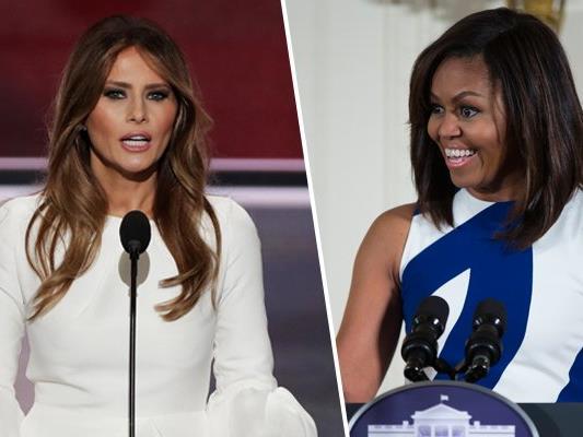 Die Reden von Melania Trump auf dem Nominierungsparteitag der Republikaner ähnelt derer von Michelle Obama 2008 sehr.