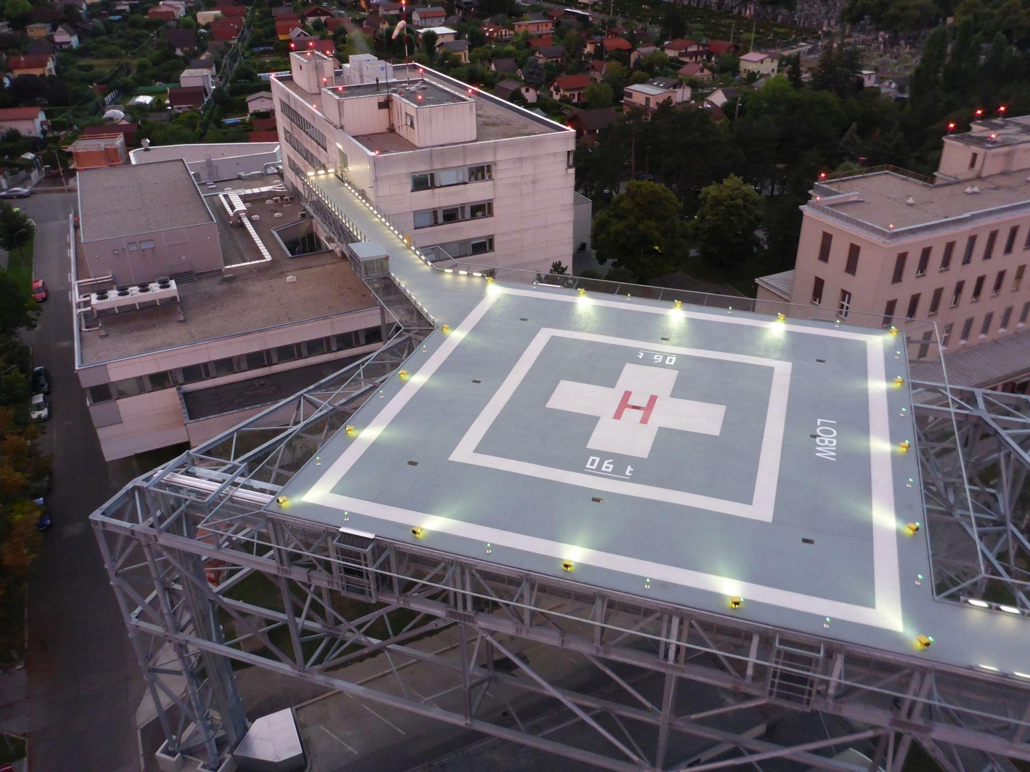 Der neue Hubschrauber-Landeplatz des Wilhelminenspitals.